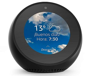 AMAZON ECHO SPOT NEGRO RELOJ DESPERTADOR INTELIGENTE CON ALEXA BLUETOOTH WIFI  SKU: +20170