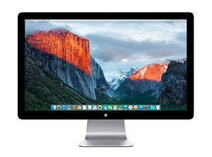 APPLE THUNDERBOLT DISPLAY 27 MONITOR LCD TFT CON WEBCAM Y ALTAVOCES 2.1