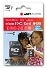AgfaPhoto 64GB MicroSDHC Class 10 - AgfaPhoto 64GB MicroSDHC Class 10 - Tarjeta de memoria 32 GB  Micro Secure Digital High-Capacity  Incluye adaptador