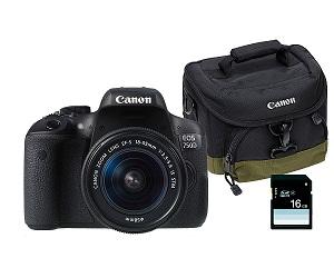 Canon 750D + 18-55 IS STM  - CANON EOS 750D CÁMARA RÉFLEX 24.2MP + EF-S 18-55mm IS STM   ¿Qué destacamos del CANON EOS 750D CÁMARA RÉFLEX 24.2MP + EF-S 18-55mm IS STM ?   .Sensor de 24.2 megapíxeles .Conectividad WiFi y NFC .Pantalla de 3