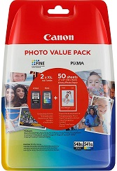 Canon PG-540XL+CL-541XL Cartuchos de tinta BK+Tricolor XL para Impresora de Inyeccion Pixma