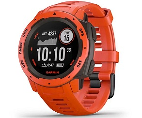 GARMIN INSTINCT FLAME RED 45mm SMARTWATCH RESISTENTE GNSS GPS ANT+ BLUETOOTH  SKU: +22044