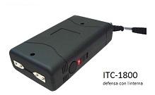 TASER CON BATERIA RECARGABLE ITC-1800 CON LINTERNA LED
