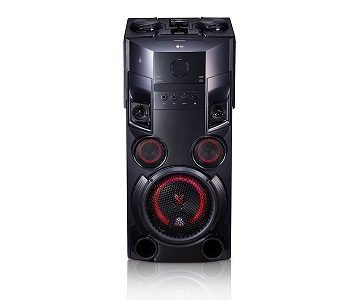 LG OM5560 TORRE DE ALTAVOCES 500W CON BLUETOOTH, REPRODUCTOR CD Y USB  SKU: +92882
