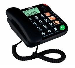 MAXCOM TELÉFONO SOBREMESA/ MEMORIA / TECLAS GRANDES / SENIOR KXT480 NEGRO