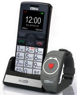 TELEFONO SENIOR MAXCOM MM715BB con bracelete  SOS