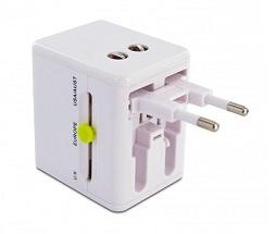 MUVIT ADAPTADOR DE VIAJE UNIVERSAL CON 2 USB 2.1A