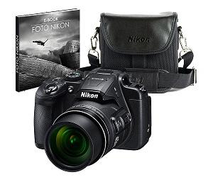 NIKON COOLPIX B700 NEGRA CÁMARA DE FOTOS 20.3MP WIFI + FUNDA PROFESIONAL + E-BOOK  SKU: +93874