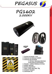 Un taser de mano pequeño con linterna incluida PG1602-2000KV