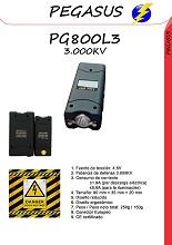 Un taser de mano pequeño con linterna incluida PG800L3 MINI -3500KV