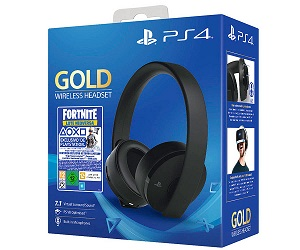 SONY GOLD WIRELESS HEADSET FORTNITE AURICULARES NEGROS INALÁMBRICOS LOTE NEO VERSA  SKU: +21261