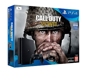 SONY PLAYSTATION 4 SLIM 1 TB + CALL OF DUTY WWII + MANDO DUALSHOCK4  SKU: +97445 - SONY PLAYSTATION 4 SLIM 1 TB + CALL OF DUTY WWII + MANDO DUALSHOCK4