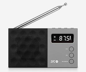 SPC 4577N GRIS NEGRO RADIO JETTY FM PORTÁTIL PANTALLA LCD Y ALARMA CON BATERÍA  SKU: +20807