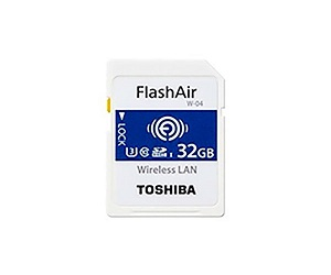 TOSHIBA FLASH AIR W-04 32GB TARJETA DE MEMORIA SD INALÁMBRICA WIFI UHS-I CLASE 3  SKU: +97394