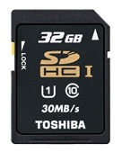 TOSHIBA SD 32GB C10 SD-T032UHS1 - TOSHIBA SD 32GB C10 SD-T032UHS1