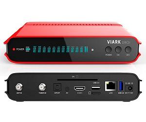 VIARK DROI RECEPTOR SATÉLITE ANDROID DVB-S2 DVB-T2 DVB-C CON H.265 HEVC FULLHD WIFI LAN  SKU: +20108