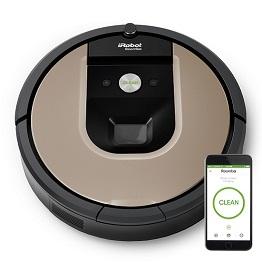 8.iRobot Roomba 966 - iRobot Roomba 966  Roomba 966 navega sin problemas por una planta entera de su casa, controla su posición y se recarga según sea necesario hasta terminar el trabajo.  El sistema de limpieza de tres fases AeroForce proporciona hasta 5 veces más corriente de aire con el motor de 2ª generación para reducir el mantenimiento y mejorar los resultados de la limpieza,y con la aplicación iRobot HOME, puede limpiar y programar sobre la marcha.