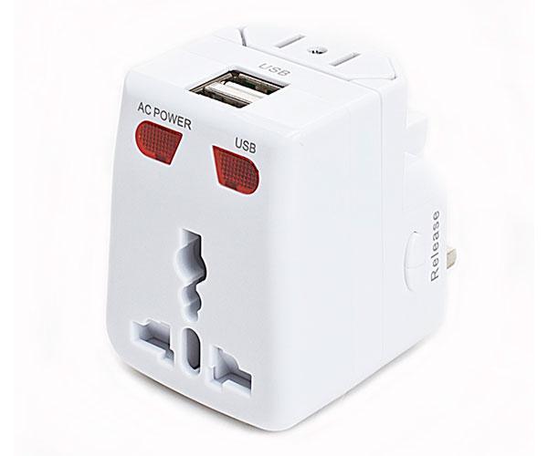 AKASHI ADAPTADOR UNIVERSAL CON 2 PUERTOS USB