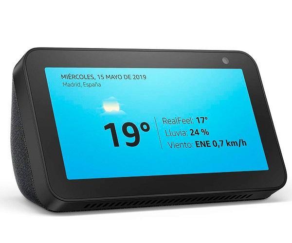 Amazon Altavoz Echo Show 5 Negro/Pantalla con control de Hogar inteligente/Alexa