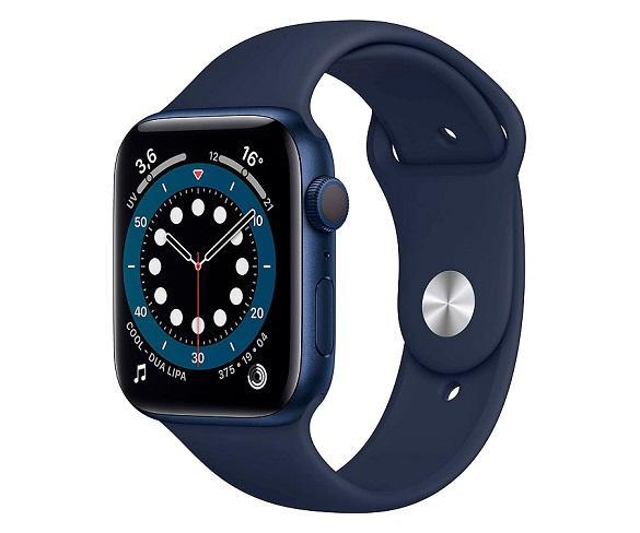 Apple Watch Series 6 /GPS/44mm/Caja de Aluminio en Azul/Correa Deportiva Azul Marino Intenso/App