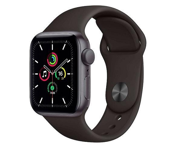 Apple Watch Serie SE GPS/40mm/Caja de Aluminio en gris espacial - Correa Deportiva Negra