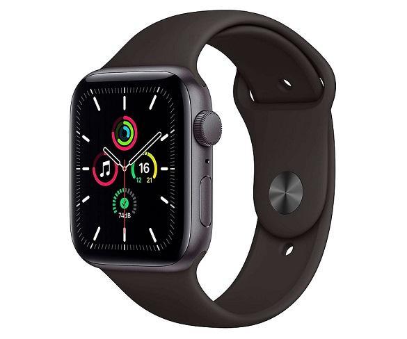 Apple Watch Serie SE GPS/44mm/Caja de Aluminio en Gris Espacial - Correa Deportiva Negra