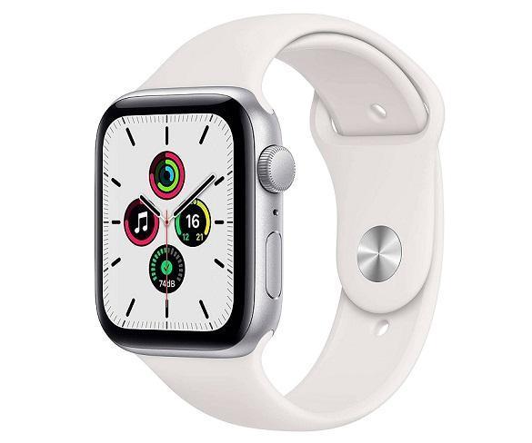 Apple Watch Serie SE GPS/44mm/Caja de Aluminio en Plata - Correa Deportiva Blanca