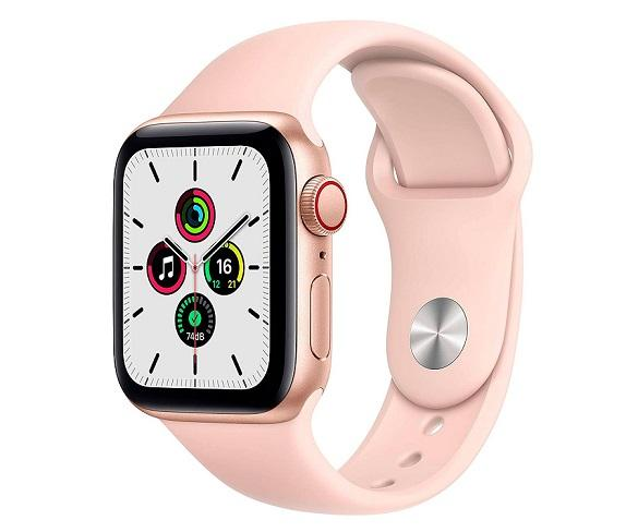 Apple Watch Serie SE GPS+LTE/40mm/Caja de Aluminio en Oro - Correa Deportiva Rosa Arena