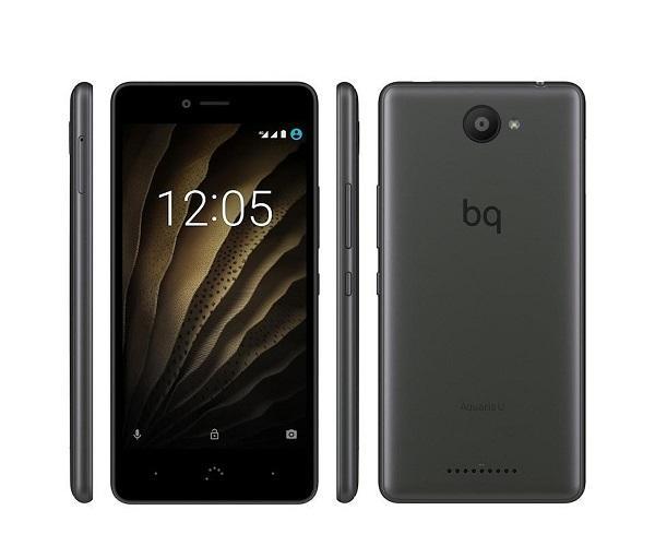 BQ AQUARIS U GRIS MÓVIL 3G 5 IPS HD/8CORE/16GB/2GB RAM/13MP/5MP  SKU: +22388
