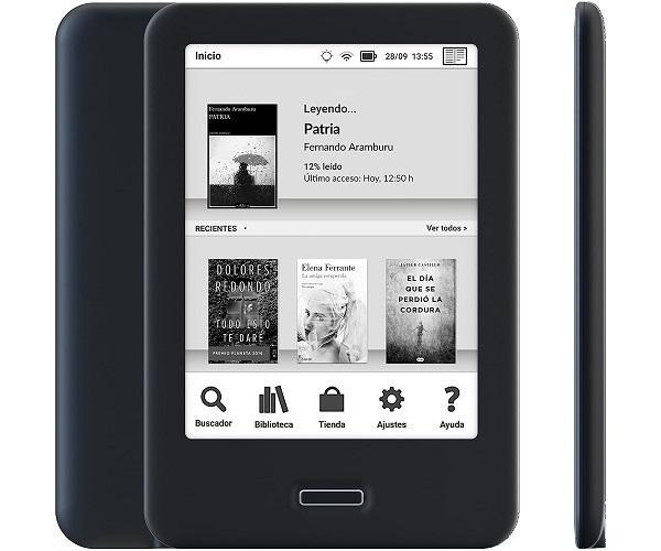 BQ CERVANTES 4 NEGRO EBOOK READER 6 E INK CARTA WIFI 8GB INTERNOS 1GB RAM  SKU: +22405