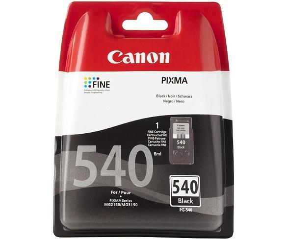 CANON PG-540 COLOR NEGRO CARTUCHO DE TINTA 8ml FINE PIXMA  SKU: +23128