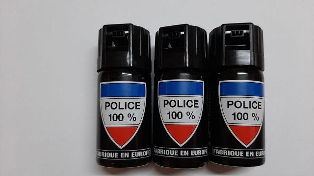 SPRAY DE DEFENSA GEL CON PIMIENTA CS-GAS 40ML 100%POLICE PACK 3 UNIDADES