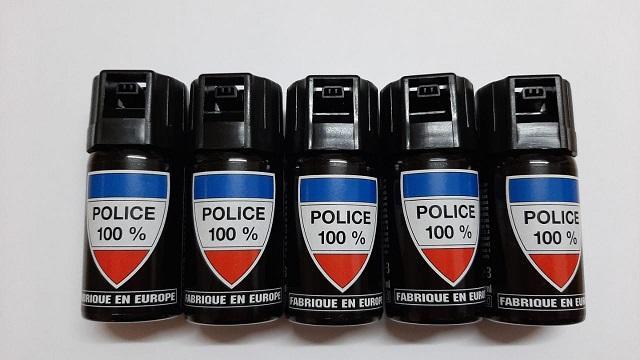 SPRAY DE DEFENSA GEL CON PIMIENTA CS-GAS 40ML 100%POLICE PACK 5 UNIDADES