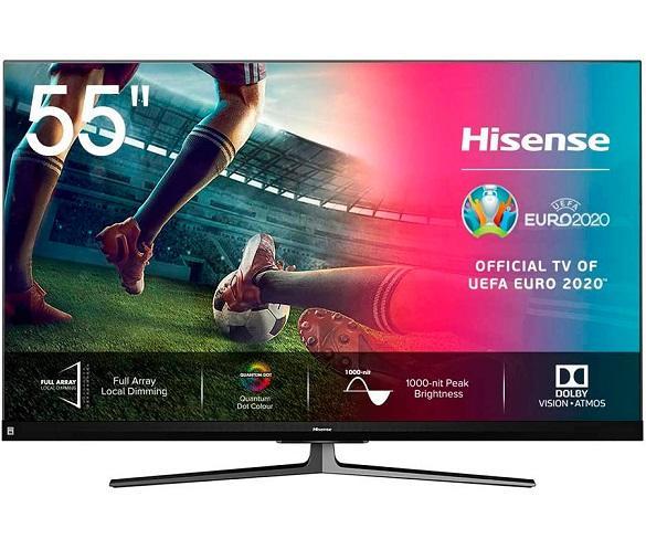HISENSE H55U8QF TELEVISOR 55 SMART TV ULED 4K UHD HDR 120Hz CI+ HDMI USB BLUETOOTH  SKU: +22820
