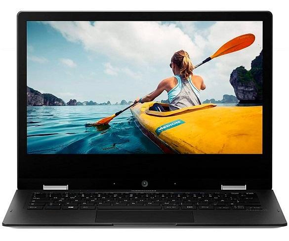 MEDION E3221 MD62002 PLATA PORTÁTIL CONVERTIBLE 13,3 TÁCTIL 360º FullHD CEL-N4020 64GB 4GB RAM