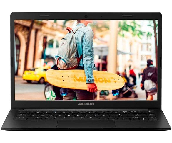 Medion E4251 Negro Portátil 14 FullHD CEL-N4000 128GB eMMC 4GB RAM W10 HOME S