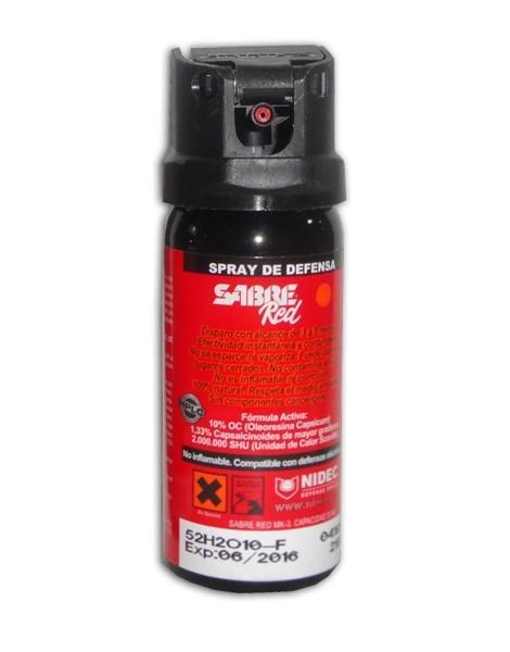 Spray de defensa Homologado para España Sabre Red  SMK 30
