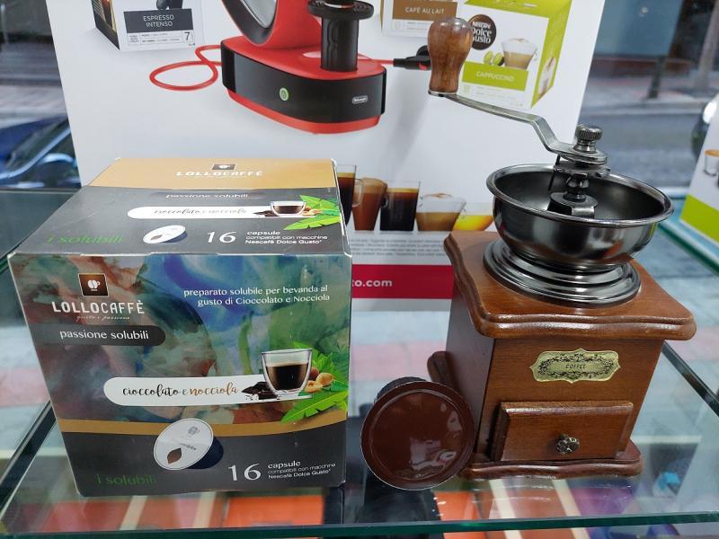 Lollo Box Cápsulas compatible Dolce Gusto  Cioccolato e nocciola  pack de 16 pcs.