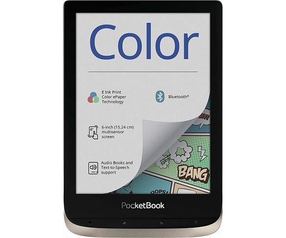 POCKETBOOK COLOR MOONSILVER E-BOOK LIBRO ELECTRÓNICO 6 TÁCTIL A COLOR HD 16GB RANURA  SKU: +22846