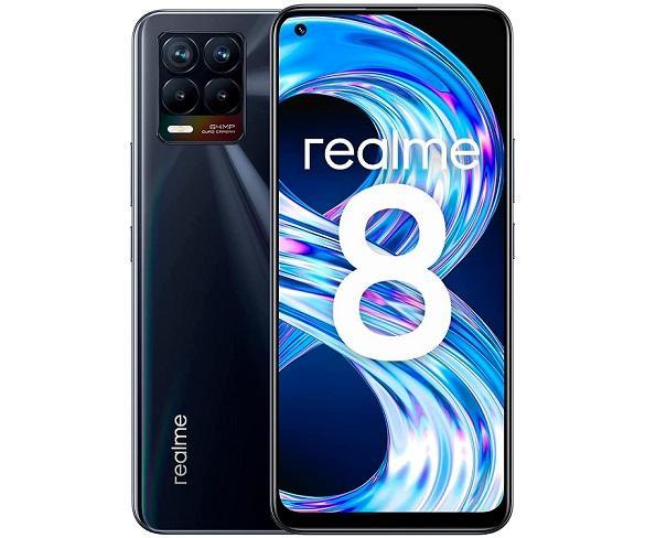 realme 8 Negro (Punk Black) 6+128GB / 6.4 AMOLED / Dual SIM