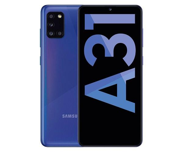 SAMSUNG A31 BLUE MÓVIL 4G DUAL SIM 6.4 SAMOLED FHD+/8CORE/64GB/4GB RAM/48+8+5+5MP  SKU: +22542