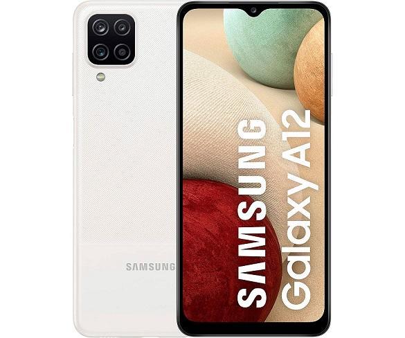 SAMSUNG GALAXY A12 BLANCO MÓVIL 4G DUAL SIM 6.5 LCD HD+ OCTACORE 32GB 3GB RAM QUADCAM 48MP+5MP+2MP