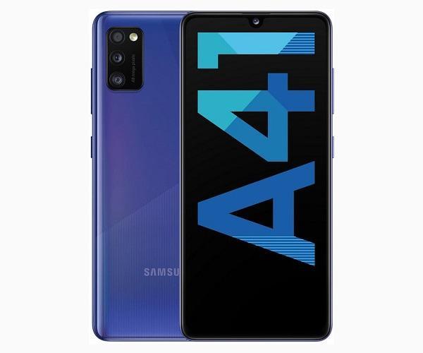 SAMSUNG GALAXY A41 AZUL MÓVIL 4G DUAL SIM 6.1 SUPER AMOLED FHD+/8CORE/64GB/4GB RAM  SKU: +22315