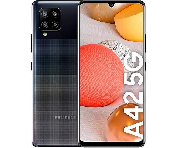 SAMSUNG GALAXY A42 NEGRO MÓVIL 5G DUAL SIM 6.6 HD+ OCTACORE 128GB 4GB RAM QUADCAM 48MP SELFIES
