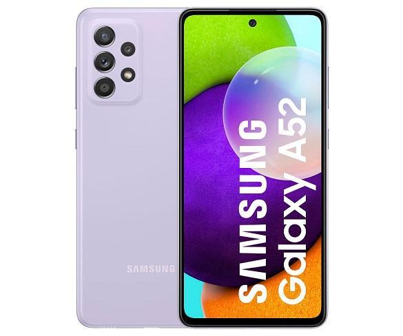 SAMSUNG GALAXY A52 A525 LIGHT VIOLET MÓVIL 4G DUAL SIM 6.5 90Hz FHD+ OCTACORE 256GB 8GB RAM