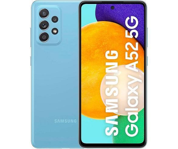 SAMSUNG GALAXY A52 AZUL MÓVIL 5G DUAL SIM 6.5 120Hz FHD+ OCTACORE 256GB 8GB RAM QUADCAM 64MP