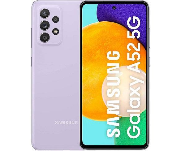 SAMSUNG GALAXY A52 VIOLETA MÓVIL 5G DUAL SIM 6.5 120Hz FHD+ OCTACORE 256GB 8GB RAM QUADCAM 64MP