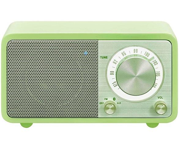 SANGEAN WR-7 VERDE RADIO ANALÓGICA SOBREMESA FM BLUETOOTH BATERÍA LI-ION RECARGABLE
