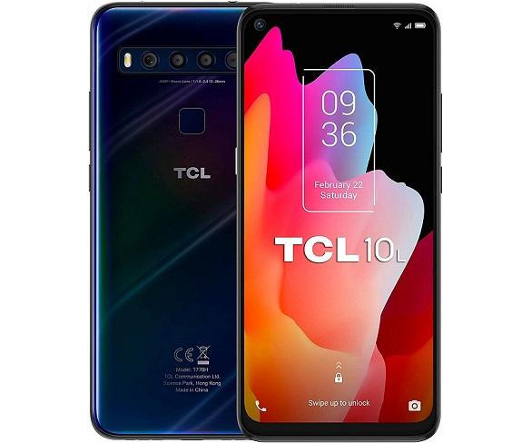 TCL 10L AZUL OSCURO MÓVIL 4G DUAL SIM 6.53 FullHD+ OCTACORE 64GB 6GB RAM QUADCAM 48MP SELFIES 16MP